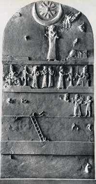 stela Urnammu, Sumer, drabina, magia, baśń, fantasy, Jaśko z Mojmirowic